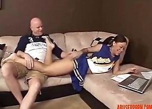 White Step Pop Cream Pies Beg for His Black Step Daughter - abuserporn.com