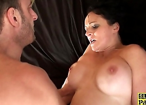 British milf throatfucked and snatch pounded
