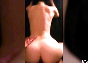 Brunette big butt screwed in doggystyle POV