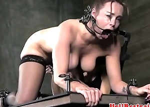 Femdom punishes gagged mature duteous