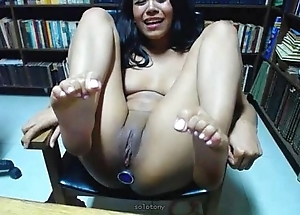 Shady girl acquires anal orgasm in library on livespicycamcom