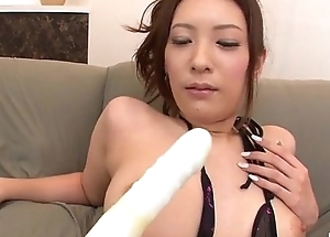 Yui Kasuga fucked with toys increased by jizzed in excess of face
