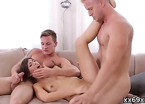 Doctor assists with hymen examination and defloration of virgin cutie