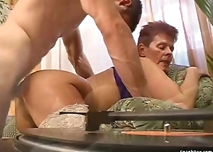 Granny getting fucked in her pussy