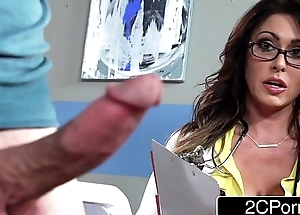 Hulking Busty Contaminate Jessica Jaymes Milking Her Took place