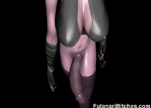 3D Futanari Elf Jizzes On Us!