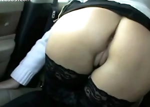 Hot Young MILF Flashing Pussy and Boobs in Car above Realwives69.com