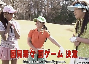 Old bag acquires fucked as she looses in golf