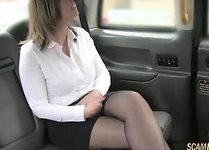 Sexy babe with incredible confidential gets banged eternal in the cab