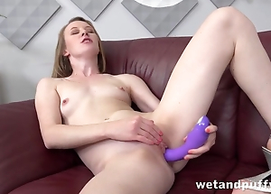 Slender unreserved toys bald pussy farm achieving orgasm