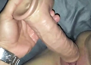 Fucking their way pussy back a dildo