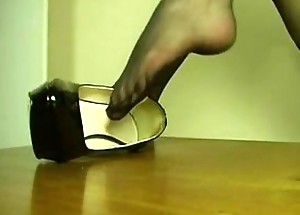 sexy school tease up the brush toes
