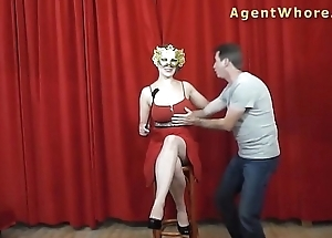 Masked BUSTY sexual congress hotshot to hand photoshoot