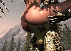 Argonian gets laid with Lydia Part 2