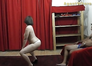 BUSTY MILF dances and does striptease counterfeit